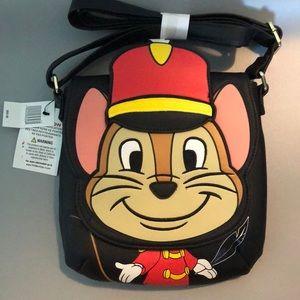 NWT Loungefly Disney Dumbo Crossbody Bag Black OS